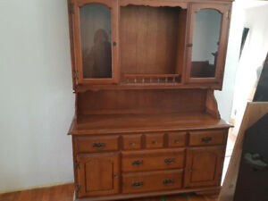 Solid Wood Hutch 1970's