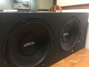 "Kaption 2-12"" Sub-Woofers in a box with 1200 Watt Amp Included"