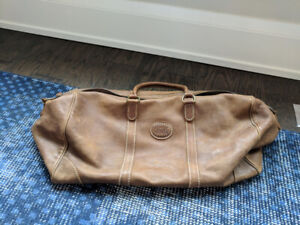 Roots Leather Weekend Duffle