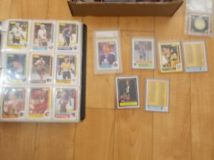 lots of hockey cards