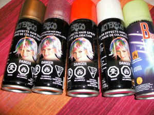 Halloween hair color spray
