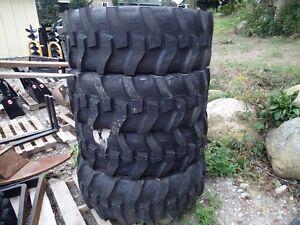 Backhoe rear tires 17.5 x 24 12ply Nylon New $700/pair