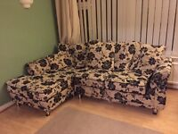 Corner sofa, 2 seater, arm chair and foot rest