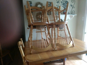 Table and 6 chairs for sale!