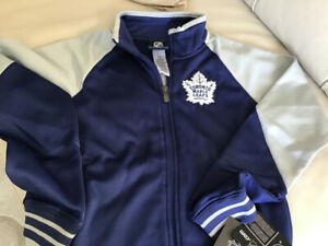 NEW GIRLS MAPLE LEAFS FULL-ZIP LIGHT WEIGHT JACKET