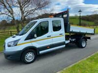 FORD TRANSIT 350 2.0 TDCI 130PS CREW CAB ONE STOP TIPPER 19 REG 22,600 MILES