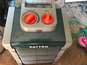 Used once in shed Patton brand cool design fan heater