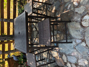 Patio Bar Table with Chairs