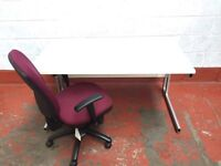 1400mm Desk Workstation White