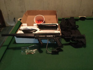 Paint ball gun and accessories