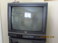 """RCA 27"""" TV and TV Stand"""