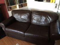 FREE 2 seat IKEA brown leather sofa