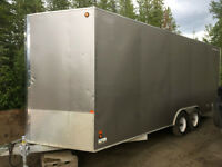 All Aluminum 8x20 Covered Trailer w/ Wiring and Heaters