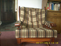 Chair ,rocking chair , 2Ottoman .Matching Magazine rack