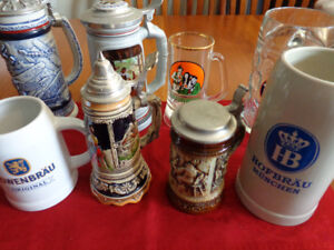 8 Collectible Beer Steins & Mugs: Great For A Man Cave or Bar!