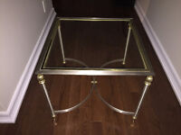 Matching Maison Jansen square end table