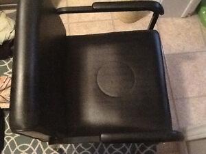 Hair stylist leather shampoo chair