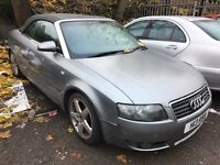 04 PLATE AUDI A4 1.8t CONVERTIBLE - spares or repairs