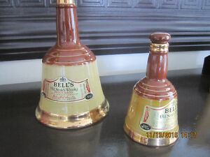 2 Bell's Wade Decanters from the 1980's Home Bar accessories