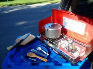 Camping package--everything but a tent and kitchen sink.