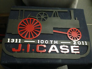 ONE J.I. CASE CAST ALUMINUM WALL PLAQUE 100 YEARS