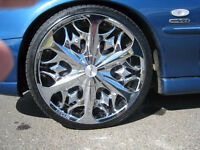 Lexani Fire Chrome Wheels - 4x100