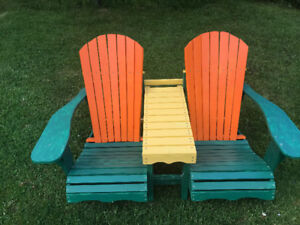 DOUBLE   LAWN   CHAIR        NEW