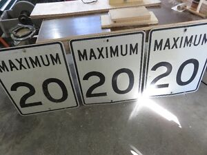 Three METAL 20 KM DRIVING SIGNS BOTH ONE PRICE asking $75 or bes