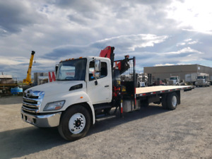 2012 Hino 358 with Fassi F120 crane and 24ft deck