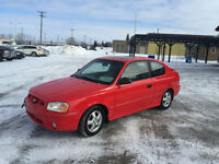 2002 Hyundai Accent Gsi Coupe (2 door),only 133000 km for $2300