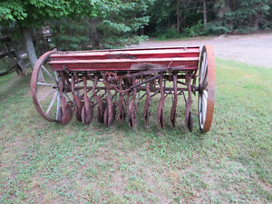 Antique  Massey Harris Horse Drawn Seed Drill