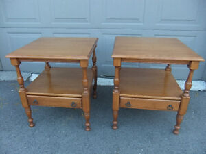 roxton solid maple matching coffee tables in exc cond
