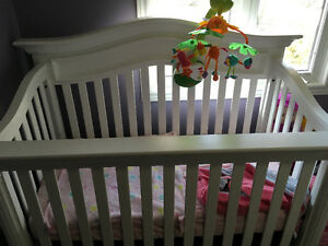 4-1 crib, sealy mattress and mobile
