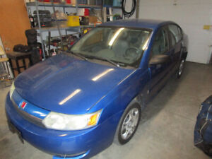 2004 Saturn Ion. Needs a new winter driver.