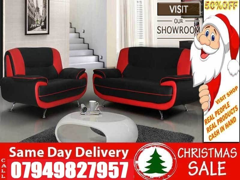 Christmas SpecialLeather 3 and 2 Sofain LondonGumtree - Measurements Corner Sofa W 210cm L210cm H 90cm D 90cm 3 Seater W 192cm H 90cm D 90cm 2 Seater W 164cm H 90cm D 90cm Rates 3 and 2 Sofa 269 Corner Sofa 279 Colours available Black White/Brown Beige/Red Black also