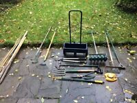 Selection of gardening tools for sale