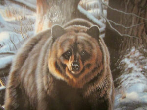 """Vintage """"THE GRIZZLY BEAR"""" Plate by Paul Krapf Kitchener / Waterloo Kitchener Area image 2"""
