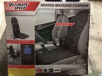 Heated massage cushion.