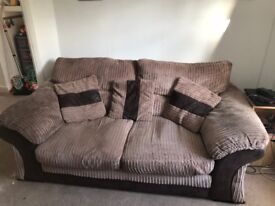 Sofa bed, Arm chair and pouffe