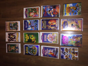 13 Vhs Disney movies & 2 dvd's