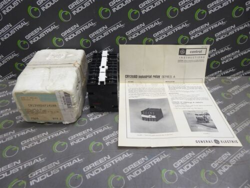 NEW General Electric CR120AD07141AA Relay Time Delay Ser. A 300V 10A 125VDC Coil