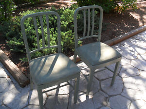 Pair chairs mid-century industrial