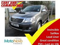 2015 65 TOYOTA HI-LUX DOUBLE CAB INVINCIBLE 4WD 3.0 NAV DIESEL