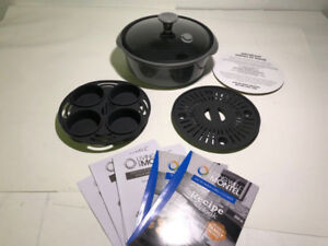 LIVING WELL WITH MONTEL MICROWAVE GRILL COOKER- mnx