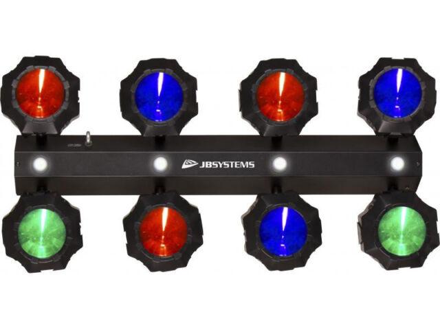 JB Systems Party Beams LED Lichteffekt 8x9 Watt RGB Strobe DMX NEU