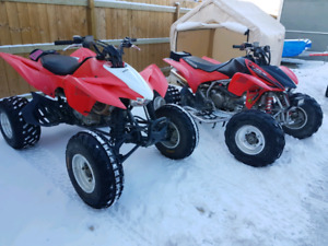 Selling 2 trx atvs 2013 and 2005