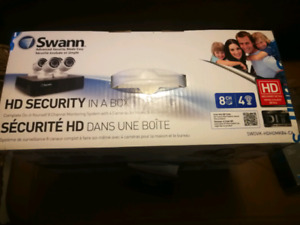 Swann hd security cameras 8 channel 4 cameras in the box
