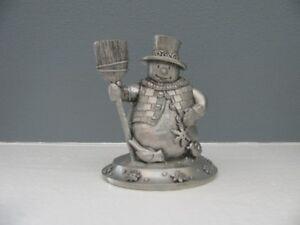 Seagull Pewter Snowman Statue