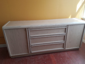 White Washed Storage Hutch in good shape