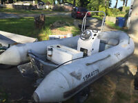 1996 Zepellin hypalon 16 foot inflatable rib with trailer